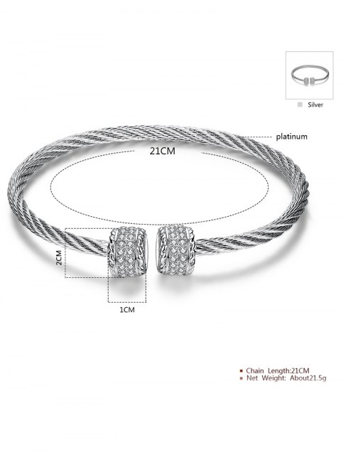 latest Twisted Wire Cuff Bracelet -   Mobile
