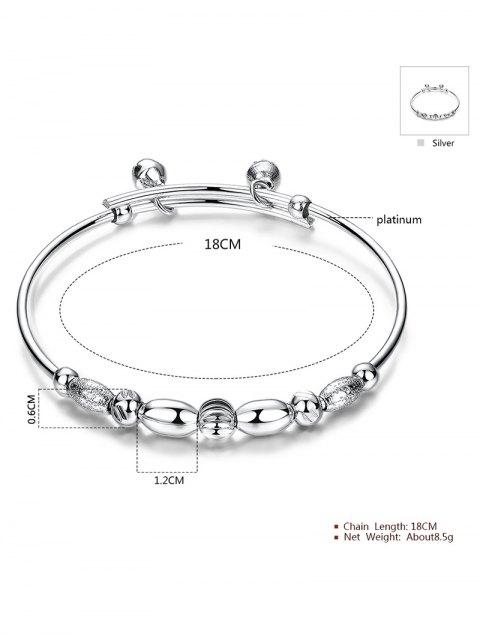 sale Beads Bell Polished Bracelet -   Mobile