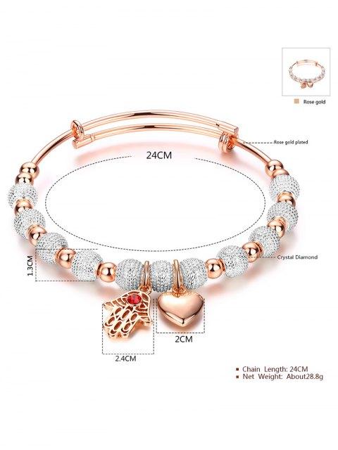 womens Palm Heart Beaded Bracelet -   Mobile