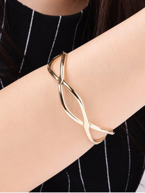 fashion Infinite Glod Plated Bracelet - GOLDEN  Mobile