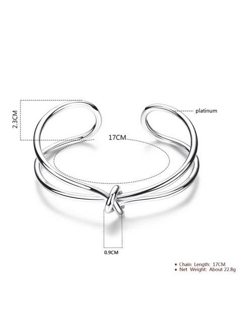 Bracelet forme infini avec un nœud - Argent  Mobile
