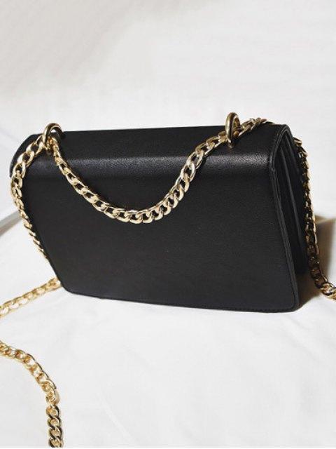 chic Tassel Chains Cross Body Bag - BLACK  Mobile