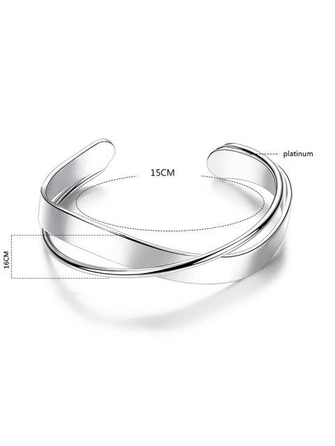 women's Crossover Cuff Bracelet - SILVER  Mobile