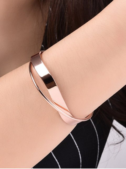 lady Crossover Cuff Bracelet - ROSE GOLD  Mobile