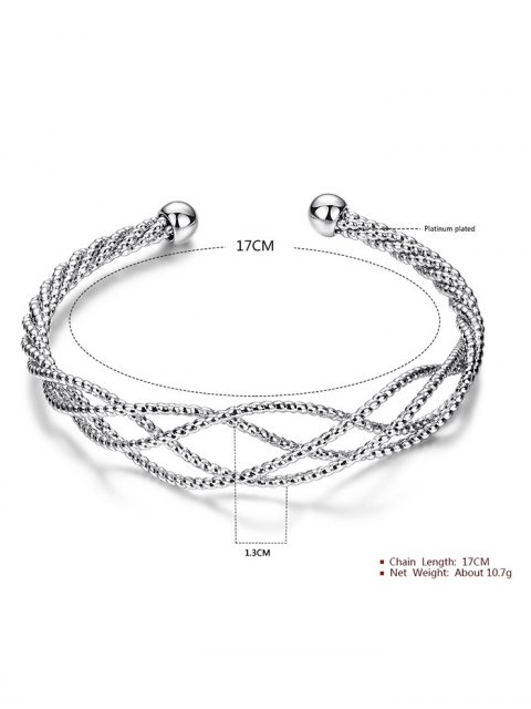 best Cable Hollowed Bracelet - SILVER  Mobile