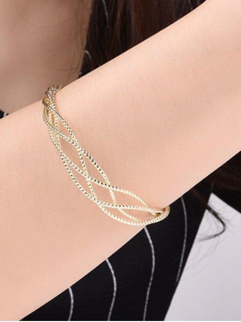 online Cable Hollowed Bracelet - GOLDEN  Mobile
