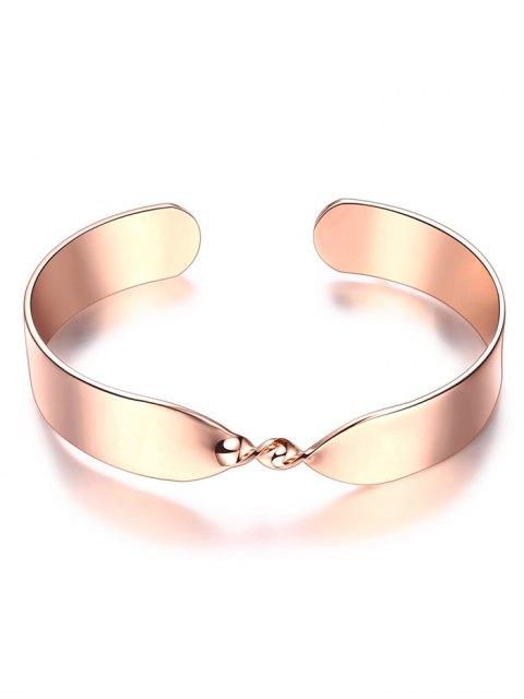 women's Alloy Twisted Infinite Bracelet - ROSE GOLD  Mobile