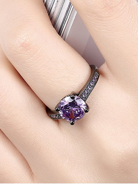 trendy Faux Gemstone Finger Ring -   Mobile