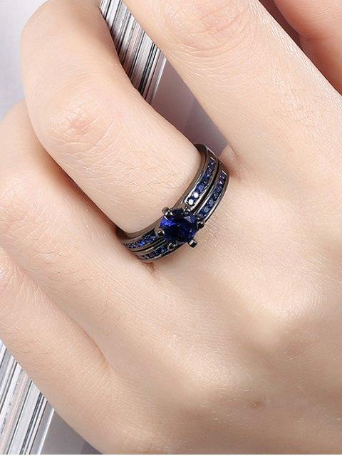 lady 2PCS Rhinestoned Rings -   Mobile