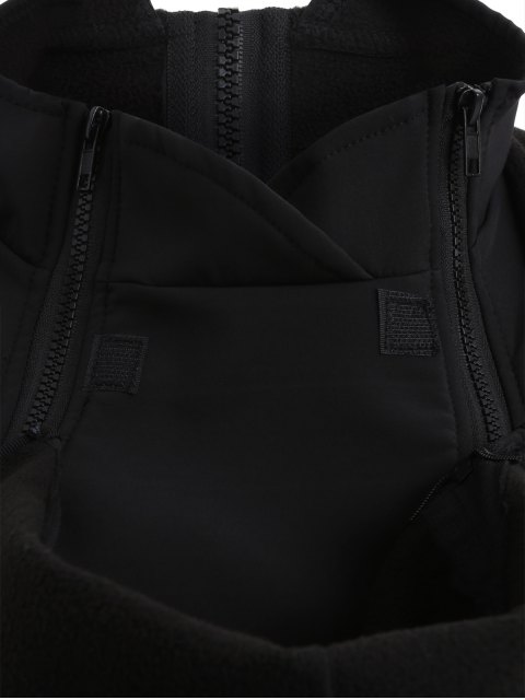 chic Baby Carrier Hooded Kangaroo Jacket - BLACK XL Mobile