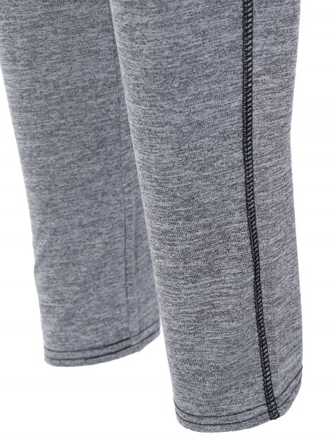 chic High Rise Color Block Sporty Running Leggings - ROYAL S Mobile