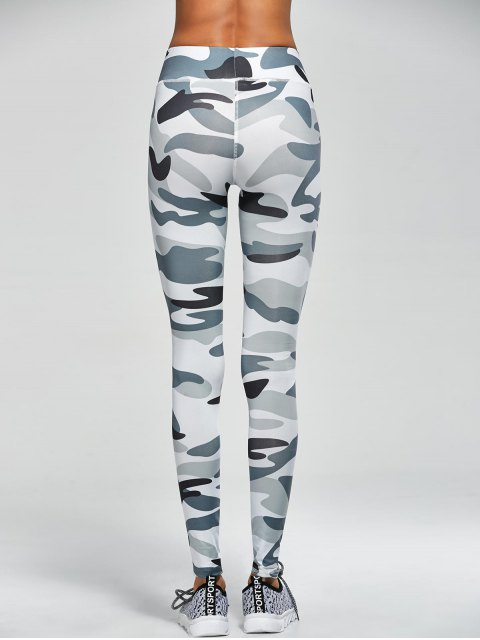 fashion Camouflage High Waist Sport Pants - ARMY GREEN CAMOUFLAGE S Mobile