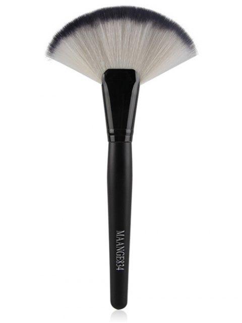 unique 3 Pcs Facial Nylon Makeup Brushes Set - BLACK  Mobile