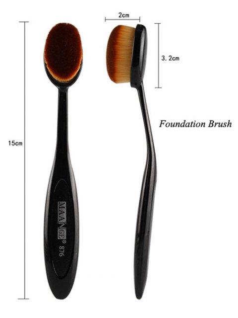 affordable 5 Pcs Eye Makeup Brushes Kit + Foundation Brush + Curved Blush Brush + Air Puffs - BLACK  Mobile