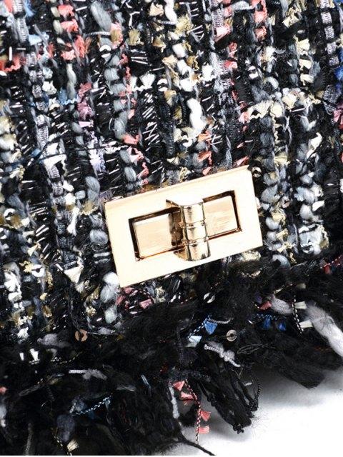 chic Chain Argyle Twist-Lock Closure Crossbody Bag - OFF-WHITE  Mobile
