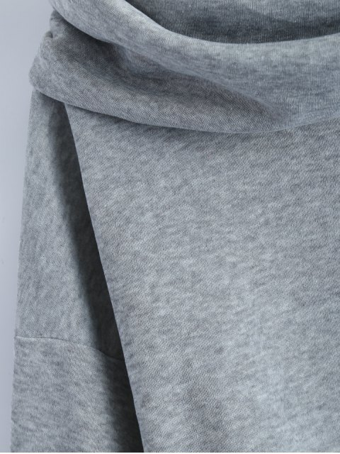 womens High-Low Tunic Hoodie - GRAY S Mobile