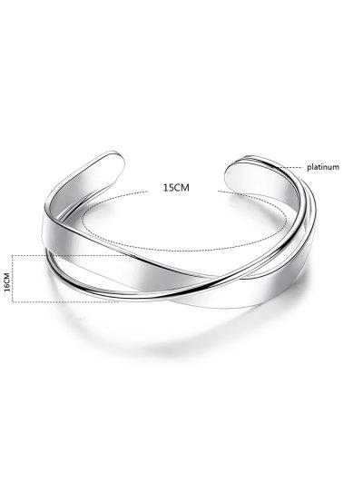 Crossover Cuff Bracelet - SILVER  Mobile