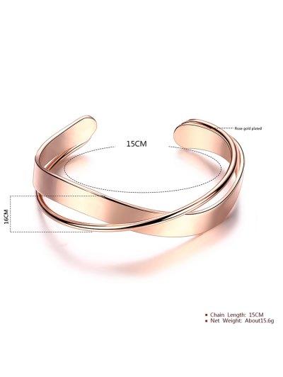 Crossover Cuff Bracelet - ROSE GOLD  Mobile