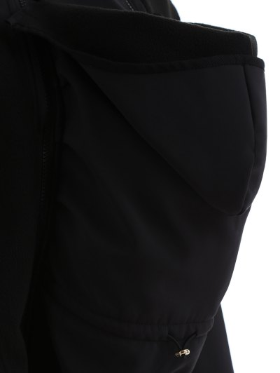 Baby Carrier Hooded Kangaroo Jacket - BLACK L Mobile