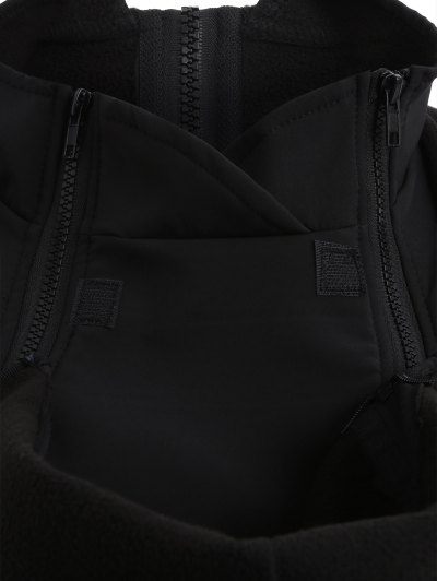 Baby Carrier Hooded Kangaroo Jacket - BLACK M Mobile