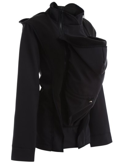 Baby Carrier Hooded Kangaroo Jacket - BLACK S Mobile