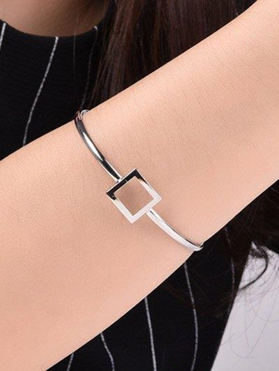 Square Hollowed Bracelet - SILVER  Mobile