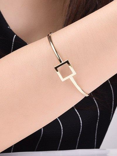 Square Hollowed Bracelet - GOLDEN  Mobile