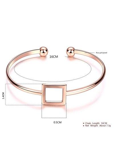 Square Hollowed Bracelet - ROSE GOLD  Mobile
