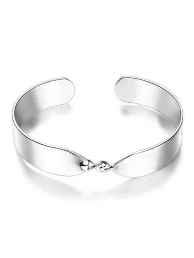Alloy Twisted Infinite Bracelet - SILVER  Mobile