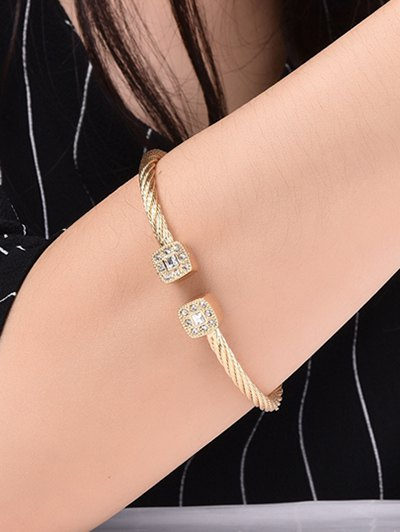 Twisted Cable Cuff Bracelet - CHAMPAGNE GOLD  Mobile