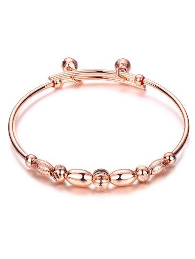 Beads Bell Polished Bracelet - ROSE GOLD  Mobile