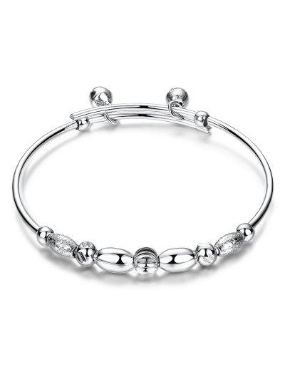 Beads Bell Polished Bracelet - SILVER  Mobile