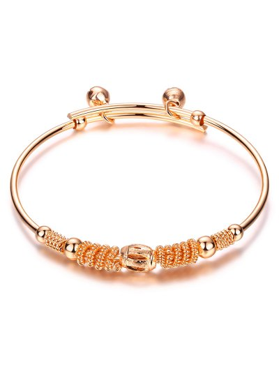 Bell Embellished Charm Bracelet - ROSE GOLD  Mobile