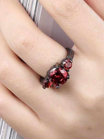 Vintage Faux Gemstone Ring - RED 6 Mobile