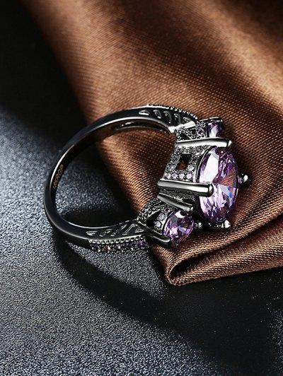 Vintage Faux Gemstone Ring - PURPLE 7 Mobile