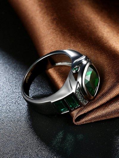 Vintage Faux Gem Ring - GREEN 6 Mobile
