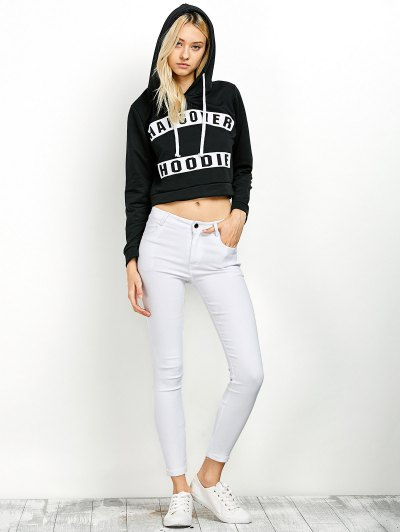 Hangover Cropped Hoodie - BLACK M Mobile