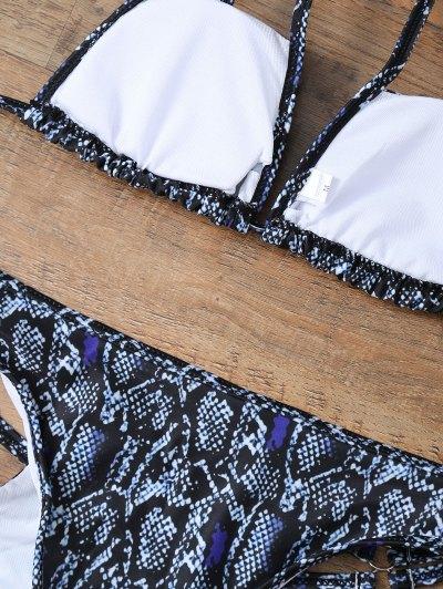 Snakeskin Strappy Bikini Set - COLORMIX S Mobile