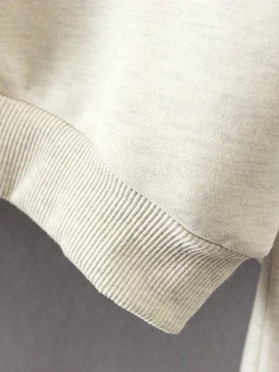 Lace Up Fleece Lining Sweatshirt - OFF-WHITE M Mobile
