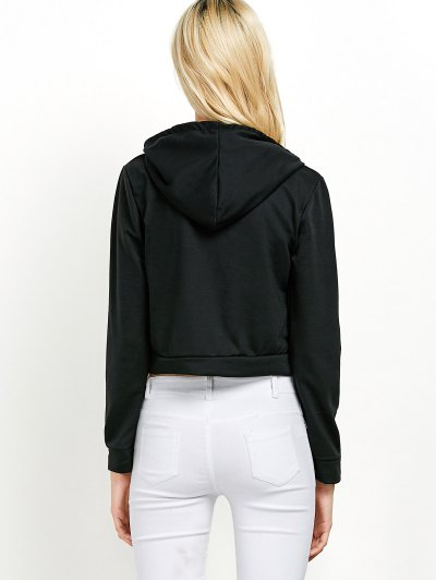 Hangover Cropped Hoodie - BLACK 2XL Mobile