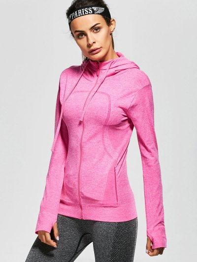 Active Zipper Sports Hooded Jacket - TUTTI FRUTTI L Mobile