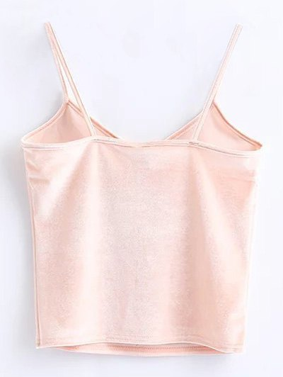 Camisole Velvet Top - PINK ONE SIZE Mobile