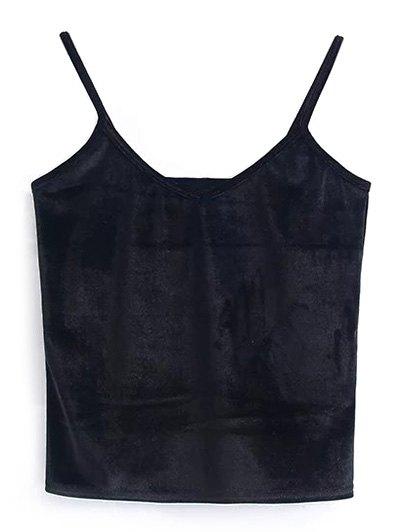 Camisole Velvet Top - BLACK ONE SIZE Mobile