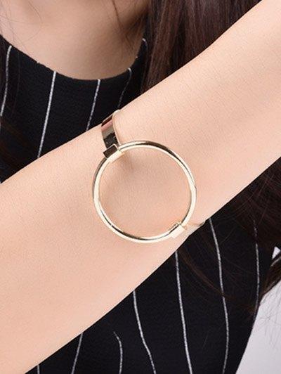 Hollowed Gold Plated Bracelet - GOLDEN  Mobile