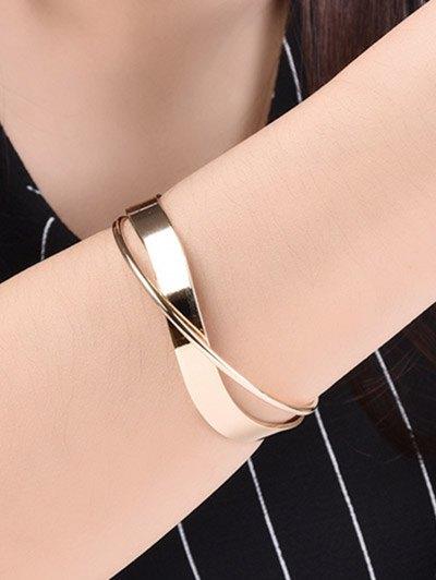 Crossover Cuff Bracelet - GOLDEN  Mobile