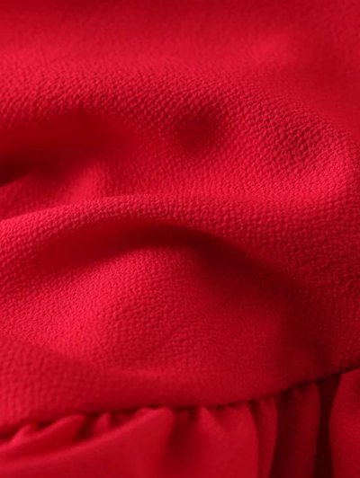 Frilled Top - RED M Mobile