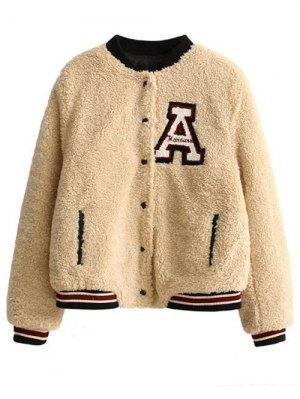 Faux Fur Bomber Jacket - Khaki