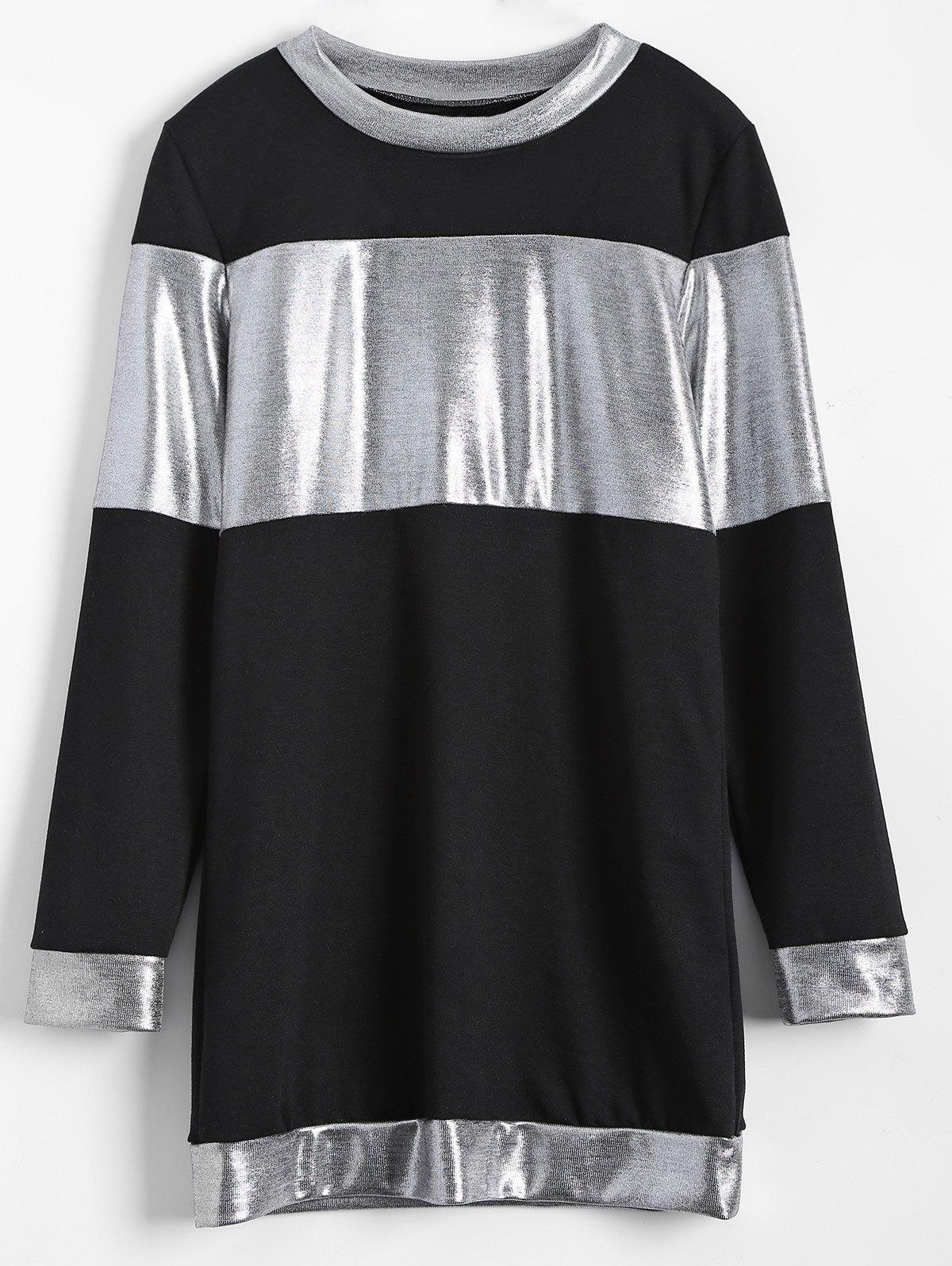 Metallic Color Mini Dress