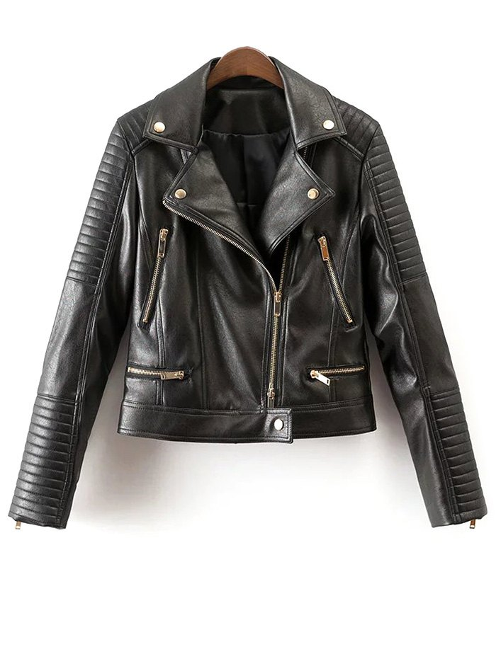 Lapel Collar Biker Jacket