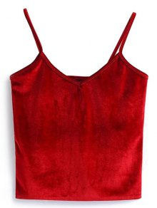 Buy Camisole Velvet Top ONE SIZE RED